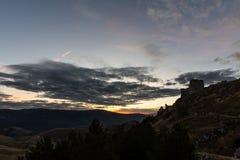 Rocca Calascio è una fortezza o un rocca della vetta nel Provinc Fotografie Stock Libere da Diritti