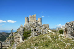 Rocca Calascio, Abruzzo, Italië Stock Foto's
