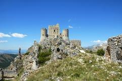 Rocca Calascio, Abruzzo, Italien Arkivfoton
