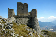 Rocca Calascio, Abruzzo, Italien Royaltyfria Bilder