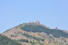 Rocca Calascio Castillo de Calascio Fotos de archivo