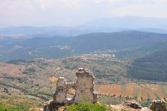 Rocca Calascio Castillo de Calascio Imagenes de archivo