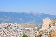 Rocca Calascio Castillo de Calascio Foto de archivo
