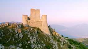 Rocca Calascio castle Abruzzo Italy stock footage