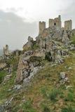 Rocca Calascio Castle view. Rocca Calascio Castle and mountains view Royalty Free Stock Photos