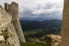 Rocca Calascio, Chiesa diSanta Maria Della pietÃ, Abruzzo, Italien Royaltyfri Foto