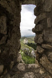 Rocca Calascio, Chiesa diSanta Maria Della pietÃ, Abruzzo, Italien Fotografering för Bildbyråer