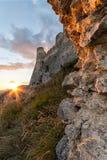 Rocca Calascio, dama jastrzębia forteca w Abruzzo, l'Aquila, Włochy Fotografia Stock