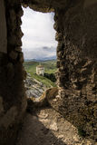Rocca Calascio, Di Σάντα Μαρία Della Chiesa pietÃ, Abruzzo, Ιταλία Στοκ φωτογραφίες με δικαίωμα ελεύθερης χρήσης