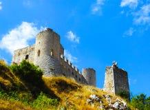 Rocca Calascio kasztel, Abruzzo, Włochy obrazy royalty free