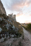 Rocca Calascio, Lady Hawk Fortress, in Abruzzo, L'Aquila, Italy Stock Photography