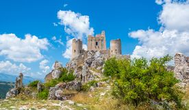 Free Rocca Calascio, Mountaintop Fortress Or Rocca In The Province Of L`Aquila In Abruzzo, Italy. Royalty Free Stock Image - 137113086