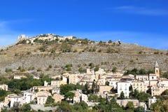 Rocca Calascio nel Apennines, Italia Immagine Stock
