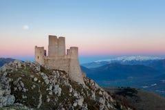 Rocca Calascio, an old Italian castle royalty free stock photos