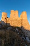 Rocca Calascio, senhora Hawk Fortress, em Abruzzo, L'Aquila, Itália Imagem de Stock Royalty Free