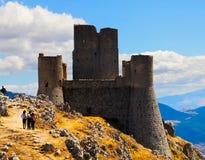 Rocca Calascio slott, Abruzzo, Italien Arkivbild