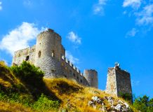 Rocca Calascio slott, Abruzzo, Italien Royaltyfria Bilder