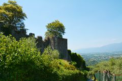 Rocca castle in Asolo, Italy Stock Image