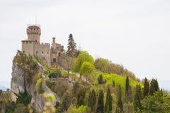 Rocca Cesta lub Po drugie Basztowy w San Marino republiki San marino Zdjęcia Stock