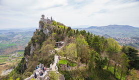 Rocca Cesta lub Po drugie Basztowy w San Marino republiki San marino Zdjęcia Royalty Free