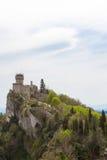 Rocca Cesta lub Po drugie Basztowy w San Marino republiki San marino Obrazy Royalty Free