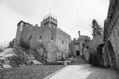 Rocca Cesta lub Po drugie Basztowy w San Marino republiki San marino Fotografia Royalty Free