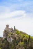 Rocca Cesta ou deuxième tour au Saint-Marin Le Republic Of San Marino Image stock