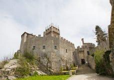 Rocca Cesta ou deuxième tour au Saint-Marin Le Republic Of San Marino Images stock