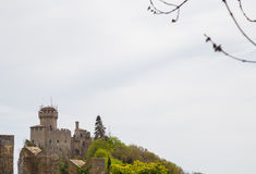 Rocca Cesta or Second Tower in San Marino.Republic of San Marino Royalty Free Stock Images
