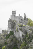 Rocca Cesta or Second Tower in San Marino.Republic of San Marino Royalty Free Stock Photo