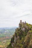 Rocca Cesta or Second Tower in San Marino.Republic of San Marino Stock Photos