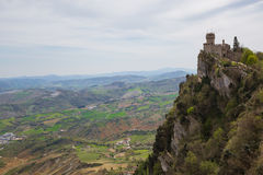 Rocca Cesta or Second Tower in San Marino.Republic of San Marino Royalty Free Stock Photography