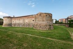 Rocca Costanza - Pesaro Italien Arkivfoton