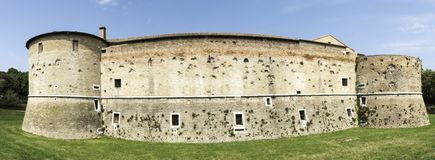 Rocca Costanza - Pesaro Italy. Rocca Costanza a fort built in 1474 - Pesaro Italy royalty free stock photography