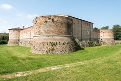 Rocca Costanza - Pesaro Italy. Rocca Costanza a fort built in 1474 - Pesaro Italy stock image