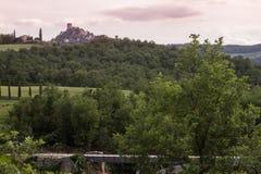 Rocca D `-Orcia sikt Arkivfoto