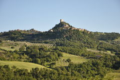 Rocca d'Orcia in Tuscany Stock Photography