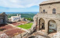 Rocca-dei Papi-Festung in Montefiascone, Provinz von Viterbo, Lazio, Mittel-Italien Stockbild