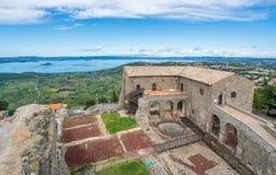 Rocca-dei Papi-Festung in Montefiascone, Provinz von Viterbo, Lazio, Mittel-Italien Stockfotografie