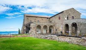 Rocca-dei Papi-Festung in Montefiascone, Provinz von Viterbo, Lazio, Mittel-Italien Stockfotos