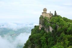 Rocca della Guaita,圣马力诺, Ita最古老的堡垒  库存图片