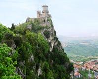 Rocca della Guaita,圣马力诺, Ita最古老的堡垒  免版税库存照片