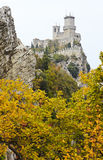 Rocca della Guaita. The most ancient fortress of San Marino, Italy, autumnal landscape Royalty Free Stock Photo