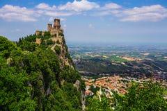 Rocca della Guaita, the most ancient fortress of San Marino Stock Images