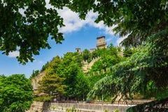 Rocca della Guaita, the most ancient fortress of San Marino Stock Photography