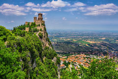 Rocca della Guaita, the most ancient fortress of San Marino Royalty Free Stock Images