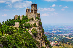 Rocca della Guaita, the most ancient fortress of San Marino Royalty Free Stock Image