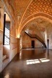 Rocca Di Angera, μεσαιωνική κύρια εσωτερική άποψη αιθουσών Ιταλία Στοκ Φωτογραφίες
