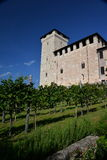 Rocca di Angera, Lake Maggiore, Italy. Outside view. Stock Images