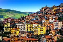 Rocca di Far stad på Alban Hills, Rome, Lazio, Italien Arkivfoton